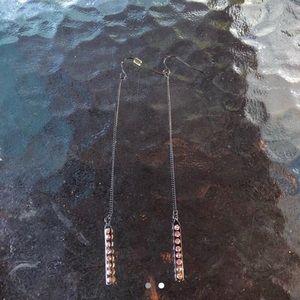 long dangly chain earrings
